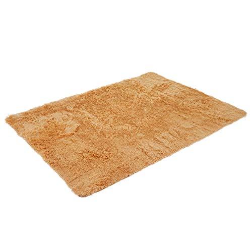 Mendler Teppich HWC-F69, Shaggy Läufer Hochflor Langflor, Stoff/Textil flauschig weich 200x140cm ~ braun