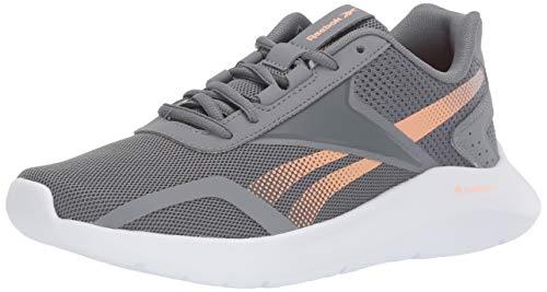 Reebok Women's ENERGYLUX 2.0 Running Shoe, Cold Grey/Sunglow/White, 5 M US