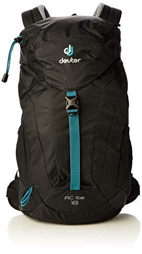 Deuter Unisex-Adult AC Lite 18 Rucksack, Black, 54 x 30 x 18 cm, 18 L