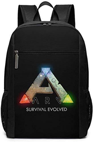 Mochila Mochila de Viaje Ark Survival Evolved Logo Backpack Laptop Backpack School Bag Travel Backpack 17 Inch