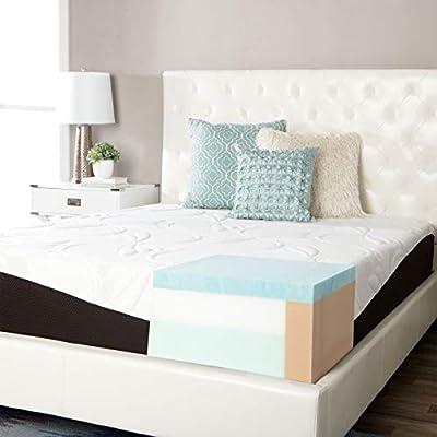 Simmons Beautyrest ComforPedic from Beautyrest Choose Your Comfort 12-inch Gel Memory Foam Mattress - White Firm Queen