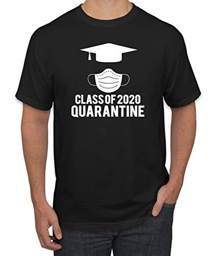 Wild Bobby Class of 2020 Quarantine Graduation Seniors Student Professor Gift   Mens Pop Culture Graphic T-Shirt, Black, 2XL