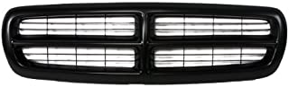 CarPartsDepot, Front Pickup Grille Grill Replacement Upgrade New Cross Bar Raw Black, 400-17118 CH1200200 5EH12DX8
