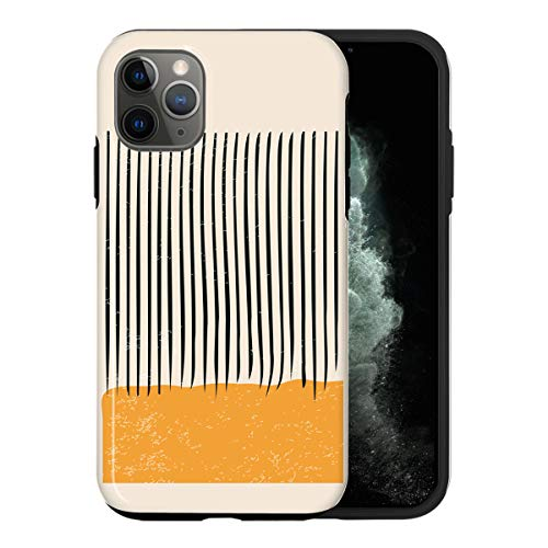 Desconocido iPhone 12 Mini Case, Orange Color Swatch ABC047_1 Case For iPhone 12 Mini Protective Phone Cover, Abstract Funny Gorgeous [Double-Layer, Hard PC + Silicone, Drop Tested]