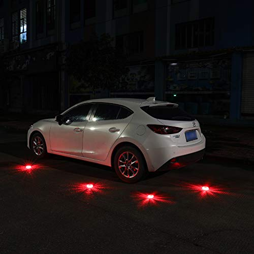 Twinkle Star 6 Pack LED Road Flares Flashing Warning Lights Roadside Safety Emergency Disc Beacon for Car, Marine Boat, Include 18 AAA batteries