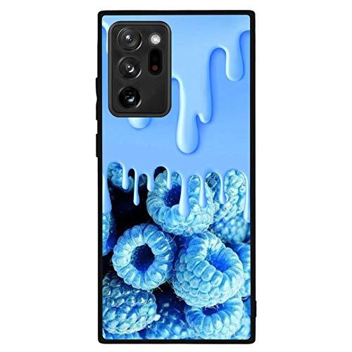 FAUNOW Coque pour Samsung Galaxy Note 20 Ultra 5G Blueberry Jam TPU + PC antichoc Noir