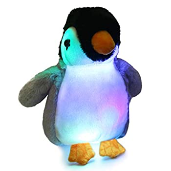 Bstaofy Glow Penguin Stuffed Animal Gray LED Soft Perky Adorable Floppy Plush Toy Nightlight Gift for Kids on Christmas Birthday Halloween Festival Occasions 11''