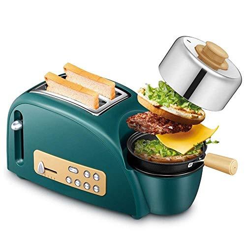 WCJ Tostadora Casa Desayuno máquina, 3-en-1 tostadora Pan-cocción Plato Grado, Inicio de...