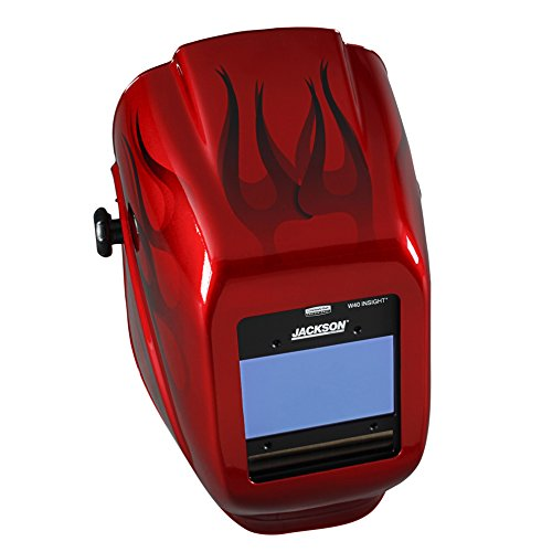 Jackson Safety Insight Variable Auto Darkening Welding Helmet (46138), HaloX , ADF, I2 Flame Graphic