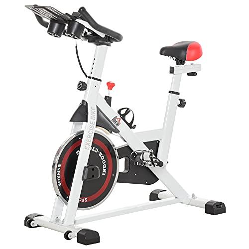 HOMCOM Vélo Biking Cardio vélo d'appartement écran LCD Multifonction Selle et Guidon réglables...