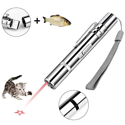 Olkoy Giochi per Gatti Interattivo Giocattoli per Gatti con 7 in 1 Funzione, USB Ricaricabile, e Catnip Giocattoli per Gatti, Strumento di Addestramento per Animali Domestici