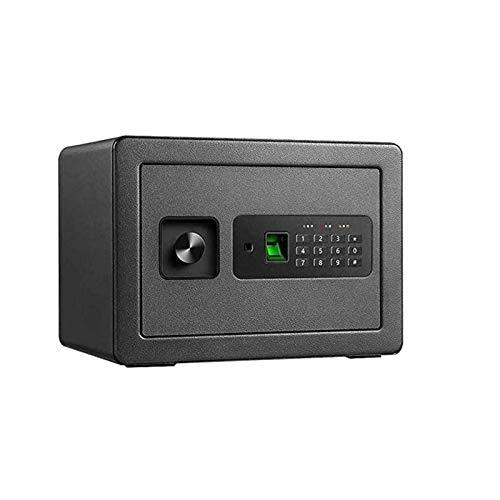 WERCHW Pequeña Caja de Seguridad, Cajas portátiles con Llaves de Teclado y Llaves para el hogar Money Hotel Business Money Safe (Color : Black)