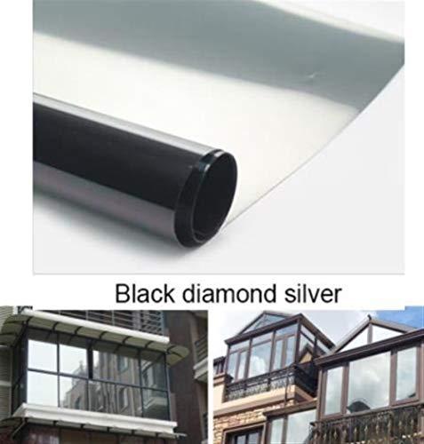 Romantic Night 99 Muurtattoo's Muurschilderingen Black Diamond Silver waterdichte raamfolie wegwerpspiegel zilveren isolatiesticker UV-bescherming inkijkbeschermingsfolie D99