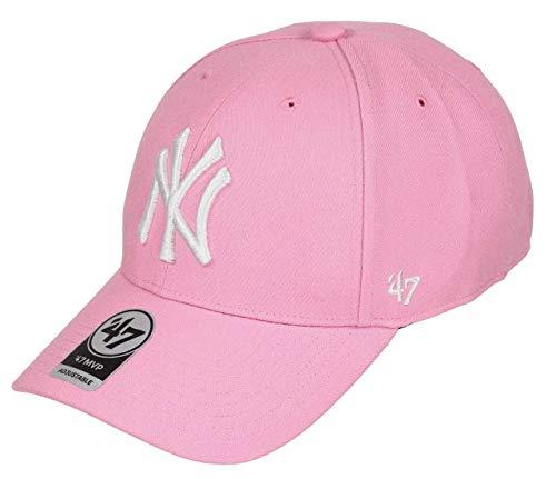47Brand New York Yankees MLB Cap Baseball Snapback Kappe Verstellbar Rosa - One-Size