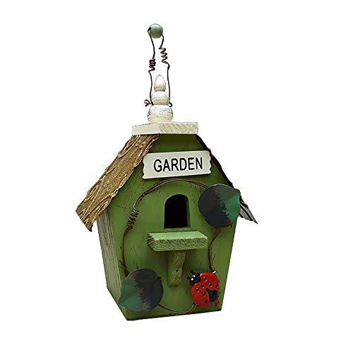 Kuingbhn Bird House Maison créative des Oiseaux en Bois, Mural Nid d'extérieur en Bois Bird House Box en Bois for Jardin Décoration Accessoires 15.5X11.5X27.5 CM pour Jardin, terrasse ou Balcon