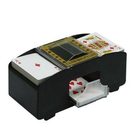 Nerd Clear Elektrischer Kartenmischer - Poker - Skat, Kartenmischmaschine