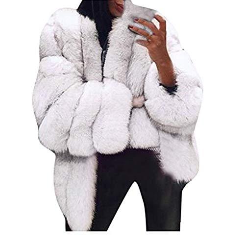 Winterjacke Kurz Damen Oversize Übergangsjacke,Strickjacke Warme Faux Fur Wintermantel Große Größen,Coat Pelzjacke Langarm Oberbekleidung URIBAKY