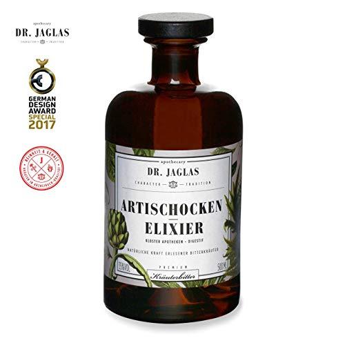 Dr. Jaglas Artischocken-Elixier/Kräuterlikör/Kräuterbitter Schnaps Geschenke/Bitterkräuter Digestif als Einzelflasche mit 0,5L / Kräuterlikör Geschenk / 35% Vol - 2