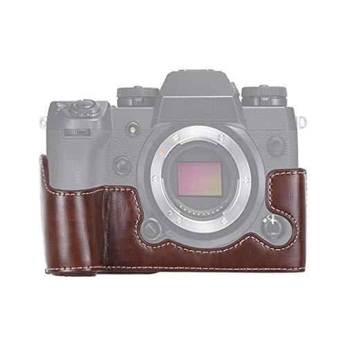 LUOKANG Kamera-Zubehör 1/4 Zoll Faden PU Leder Kamera Half Case Base for FUJIFILM X-H1 (Schwarz) (Farbe : Coffee)