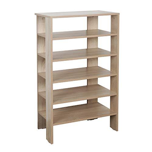 RICOO WM041-ES Estantería 105 x 60 x 32 cm Estante pequeño Librería Moderna Biblioteca Muebles de hogar Mueble almacenaje Madera Color Roble marrón