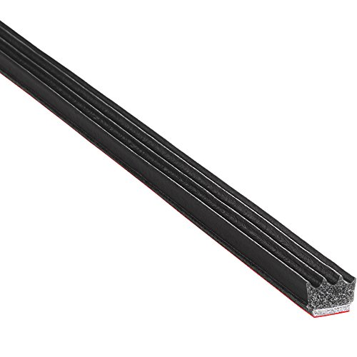 """TRIM-LOK - X113BT-25 Trim-Lok Ribbed Rectangle Rubber Seal – .187"""" Height, .375"""" Width, 25' Length – EPDM Foam Rubber Seal with BT (3M) High Strength Tape – Ideal Door and Window Weather Seal – Garage Doors, Cars, Boats"""