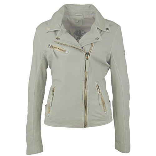 Gipsy Damen Lederjacke Bikerjacke Jacket PGG LULV (Perfecto) - Light Green (XS)