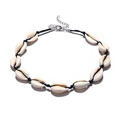 LIXINhengkj Collar de Concha Collar de Playa de Concha Hecho a Mano Señoras Adecuado para Regalos de Damas Desgaste Combinación