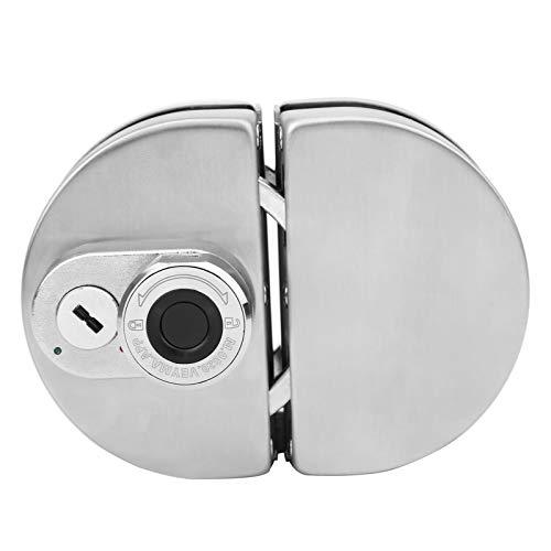 Cerradura electrónica para puerta de vidrio, kit de cerradura antirrobo con llave de acero inoxidable, cerradura inteligente de seguridad con huellas dactilares Bluetooth, con dos llaves, adecuada par