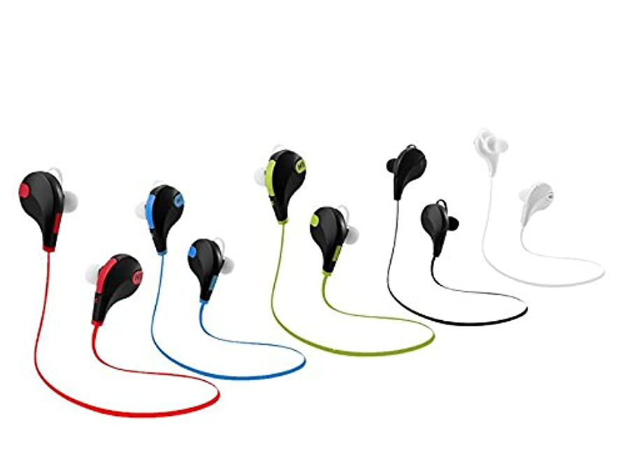 保証ラダ常習的サウンドby Vibesジョグ?–?インイヤmic-ワイヤレスステレオイヤホン内蔵Bluetoothヘッドセット?–?防水と防汗?–?HD音声Ready?–?Light Weight?–?デジタルノイズリダクションテクノロジー レッド VBJ17