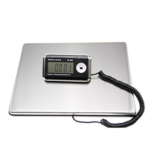 KIYOYO 隔測式デジタル台はかり 最大100kg計量 0.05kg単位 LED時間表示付き (100kg) [並行輸入品]