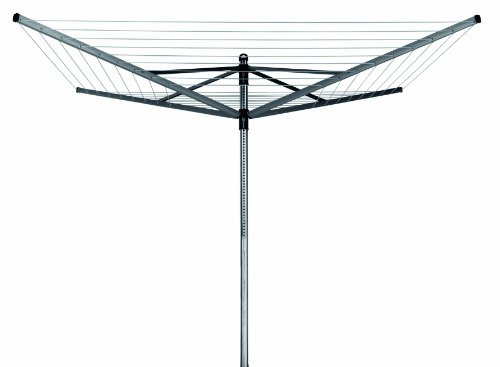 Wäschespinne Lift-O-Matic 50 M - 45 mm Rohr mit Metall-Bodenanker und Schutzhülle