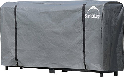 Great Price! ShelterLogic Firewood Rack-in-a-Box  Universal Full Length Cover for Firewood Storage R...
