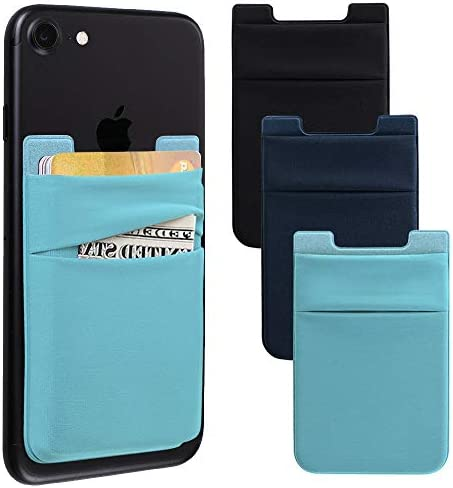 Phone Card Holder Stretchy Lycra Stick on Wallet Pocket Credit Card ID Case Pouch Sleeve 3M product image