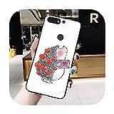 Kawaii Hérisson mignon Coque de téléphone pour Huawei Honor 7C 7A 8X 8A 9 10 10i Lite 20 Nova 3i...