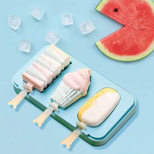 Queta Molde de silicona para helado Moldes de Polos de