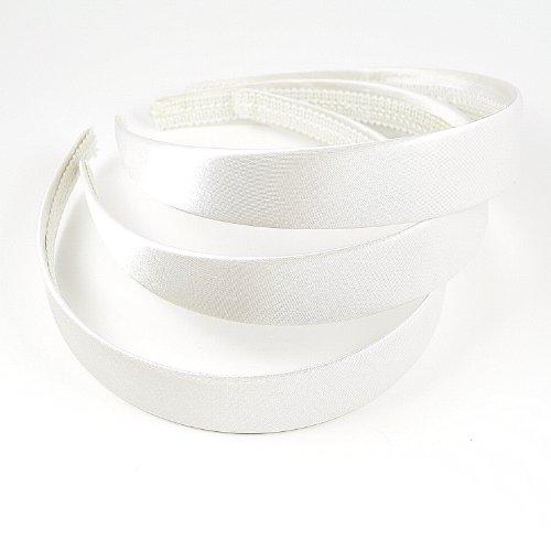 Chelsea Jones Lot de 3 serre-têtes recouverts de satin blanc Largeur 2,5cm