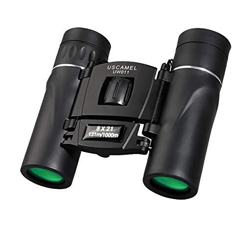 GYAM Binoculares de Bolsillo Plegables 8x21 Mini telescopio Compacto Impermeable Easy Focus HD para observación de Aves, Caza, Viajes, Juegos de fútbol