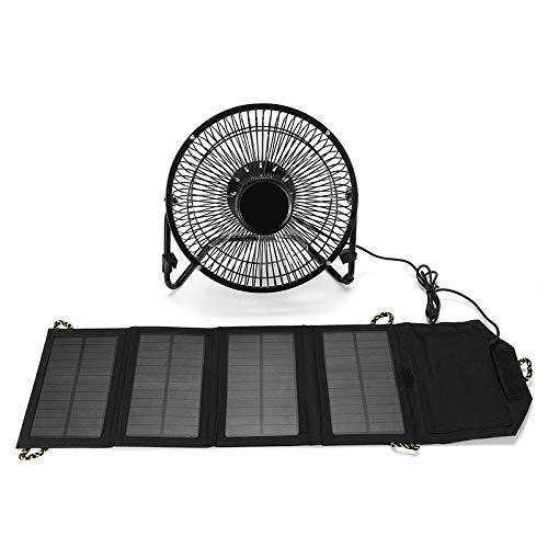 Yeeseu 8 Pulgadas USB Sensor Solar de refrigeración Sistemas del Bolso Panel Solar Ventilador + 7W Plegable Compatible with el teléfono móvil Cargador de Corriente
