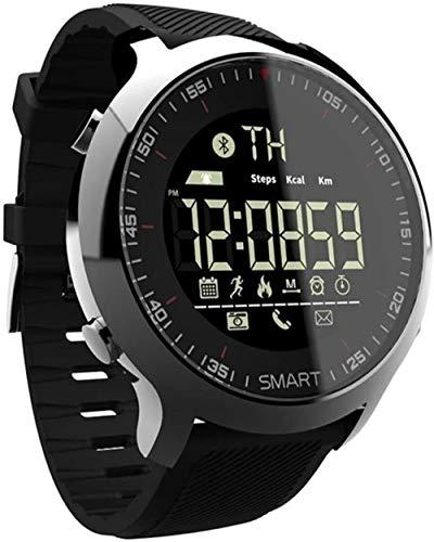 Reloj inteligente impermeable IP67 con rastreador de calorías, podómetro, compatible con llamadas y notificaciones de SMS.