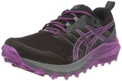 Asics Gel-Trabuco 9 G-TX, Trail Running Shoe Mujer, Black/Digital Grape, 39 EU