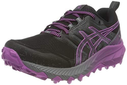 Asics Gel-Trabuco 9 G-TX, Trail Running Shoe Mujer, Black/Digital Grape, 38 EU