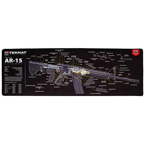 TekMat Ultra Cutaway Gun Mat for use with AR-15, Black, 15' x 44' (TEK-44-AR15-CA)