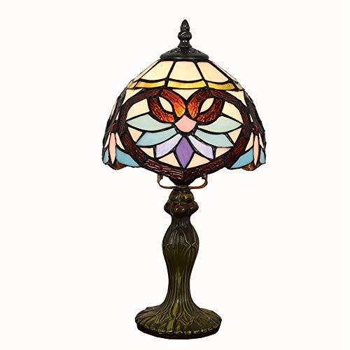 Tiffany - Lámpara de noche estilo retro, creativa, estilo barroco, 20 cm, luz