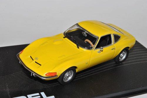 Opel GT Coupe Gelb 1968-1973 1/43 Modellcarsonline Modell Auto mit individiuellem Wunschkennzeichen