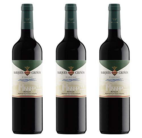 Marqués de Griñón D.O. Rioja Tempranillo - 3 botellas de 750 ml - Total: 2250 ml