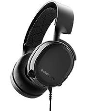 SteelSeries Arctis 3-konsol, stereo trådbundet spelheadset för PlayStation 4, Xbox One, Nintendo Switch, VR, Android och iOS, svart