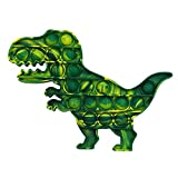 ONEST 1 Pieces Silicone Push Pop Bubbles Fidget Sensory Toy Green Pop Fidget Toy Autism Special Needs Stress Reliever Toy (Dinosaur Style)