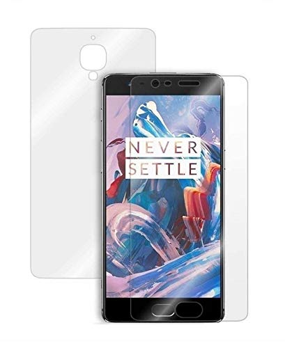 Blue Blood® 360° Buff Guard [Front + Back + Camera Lens] [Not Tempered Glass] Full Body Coverege Screen Protector for OnePlus 3− List 1096