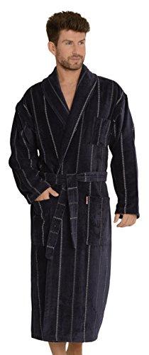 Peignoir Forex, confortable et élégant, pour homme, avec poches et ceinture à nouer, fabriqué en 100% coton - Violet - XX-Large