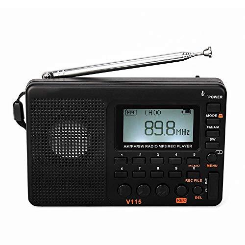 Lsmaa Pocket Radio, USB TF Tarjeta de Apoyo Rec 3 Modos de grabación Buscar y almacenar automáticamente Bass diafragma, Conveniente for la Oficina Dormitorio Viajes